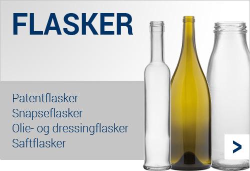 Køb fødevaregodkendte glas flasker billigt her
