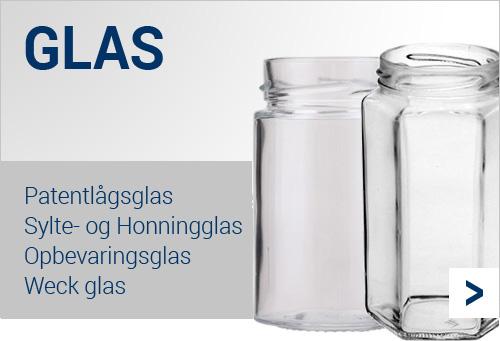 Køb fødevaregodkendt glasemballage billigt her