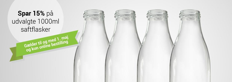Spar 15% p&aring; udvalgte 1000ml saftflasker<br>