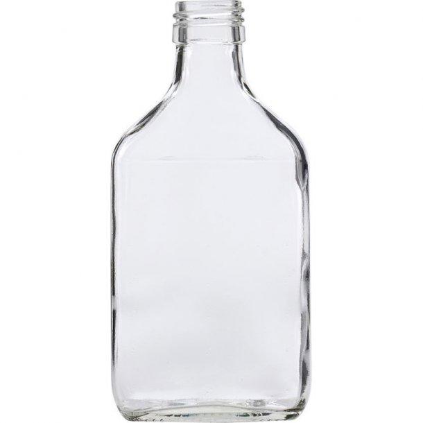 Taskeflaske 200ml (PP28) - inkl. sølv låg