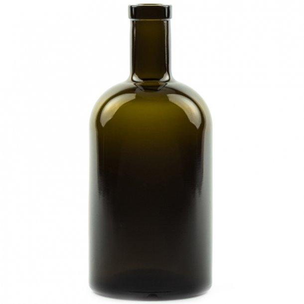 Apotekerflaske 500ml Rund (Antikgrøn) (19mm)