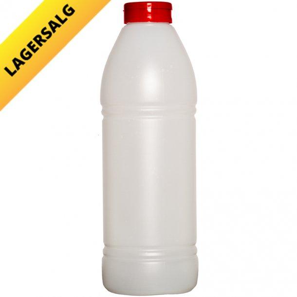 Plastikflaske 900ml Rund - inkl. rødt låg