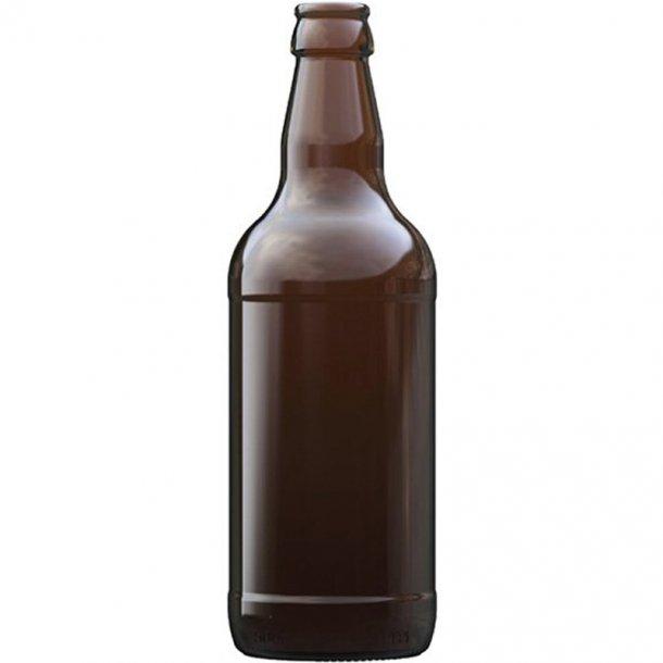Ølflaske Mørkbrun 500ml 50cl - inkl. kapsel (26mm)