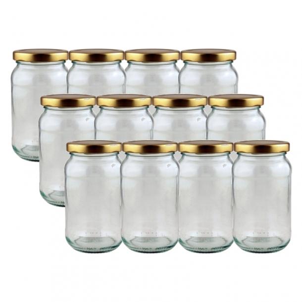 marmeladeglas med skruelåg