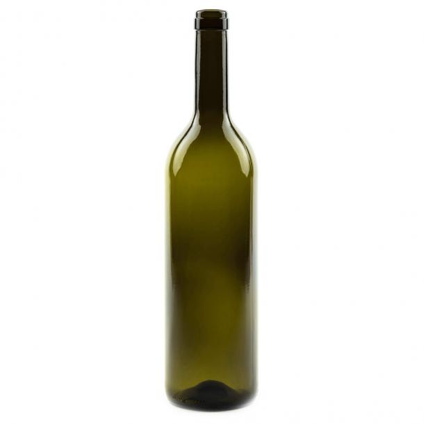 Bordeaux Vinflaske 750ml (Antikgrøn) (19mm)