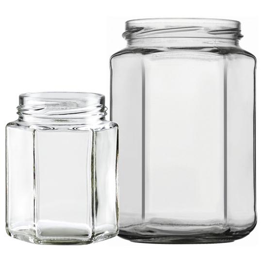 firkantet glas opbevaring