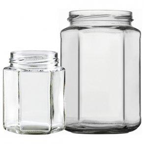 Sekskantede glas