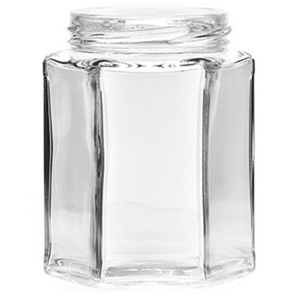 Syltetøjsglas 280ml Lav - 6-kantet (TO63)